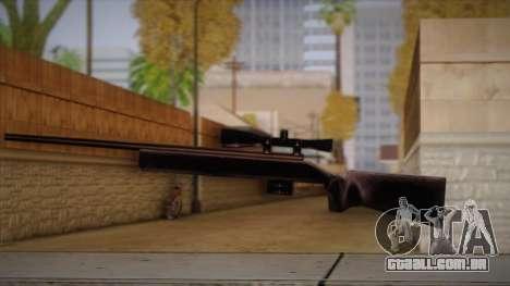 Rifle sniper de Max Payn para GTA San Andreas por diante tela