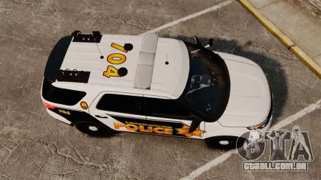 Ford Explorer 2013 Longwood Police [ELS] para GTA 4 vista direita