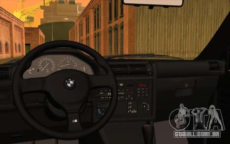 BMW M3 E30 Stock Version para GTA San Andreas vista interior