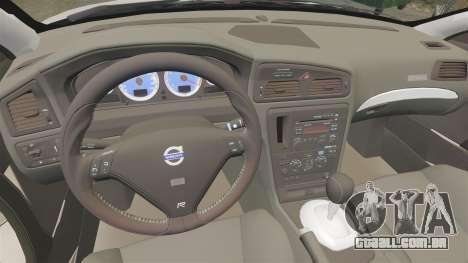 Volvo S60R para GTA 4 vista de volta
