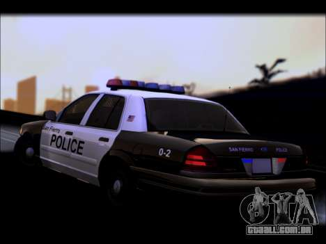 Ford Crown Victoria 2005 Police para GTA San Andreas vista superior