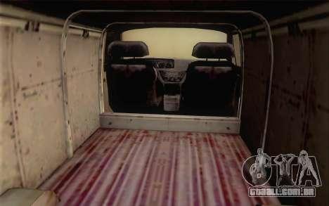 Dodge RAM Van 1500 para GTA San Andreas traseira esquerda vista