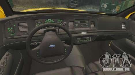 Ford Crown Victoria 1999 LCC Taxi para GTA 4 vista de volta