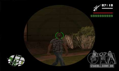GTA V Sniper Scope para GTA San Andreas quinto tela