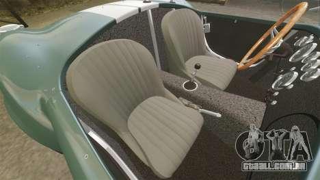 Shelby Cobra 427 SC 1965 para GTA 4 vista interior
