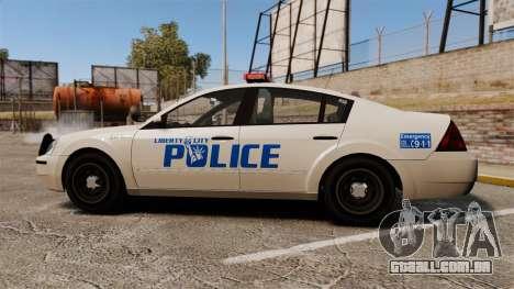 Pinnacle Police LCPD [ELS] para GTA 4 esquerda vista