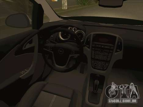 Opel Astra J 2011 para GTA San Andreas vista superior