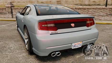 GTA V Bravado Buffalo Supercharged para GTA 4 traseira esquerda vista