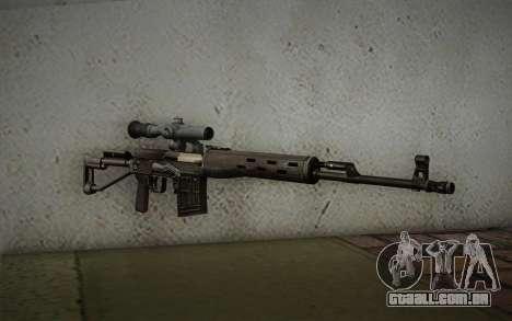 fuzil 7,62 Dragunov SVD-s para GTA San Andreas