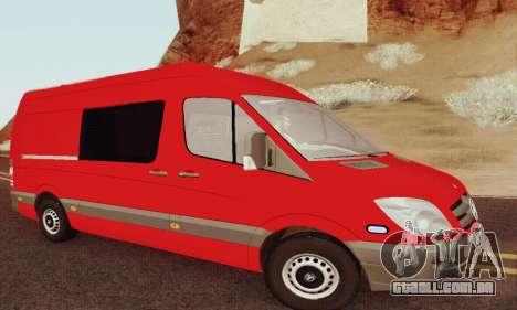 Mersedes-Benz Sprinter para GTA San Andreas vista traseira