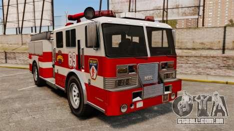 Caminhão de bombeiros para GTA 4