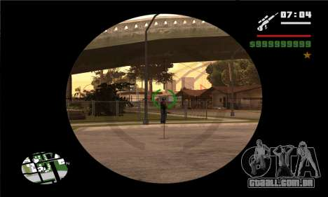 GTA V Sniper Scope para GTA San Andreas por diante tela