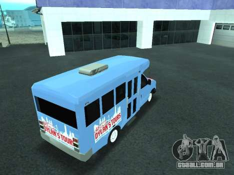 Ford Shuttle Bus para GTA San Andreas vista superior