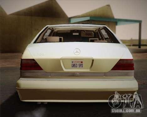 Mercedes-Benz S600 V12 Custom para vista lateral GTA San Andreas