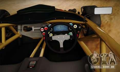 Ariel Atom 500 2012 V8 para vista lateral GTA San Andreas