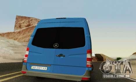 Mersedes-Benz Sprinter para vista lateral GTA San Andreas