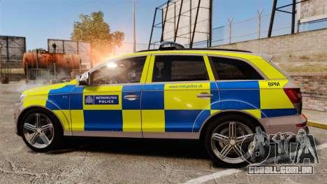 Audi Q7 Metropolitan Police [ELS] para GTA 4 esquerda vista