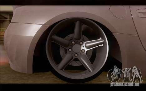 BMW Z4 Stance para GTA San Andreas traseira esquerda vista