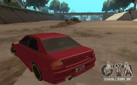 Mitsubishi Lancer Evolution VI para GTA San Andreas traseira esquerda vista