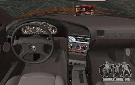 BMW 325i E36 Convertible 1996 para GTA San Andreas traseira esquerda vista