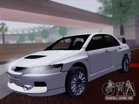 Mitsubishi Lancer Evo IX MR Edition para GTA San Andreas vista traseira