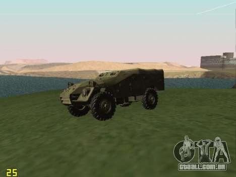 BTR-40 para GTA San Andreas vista traseira