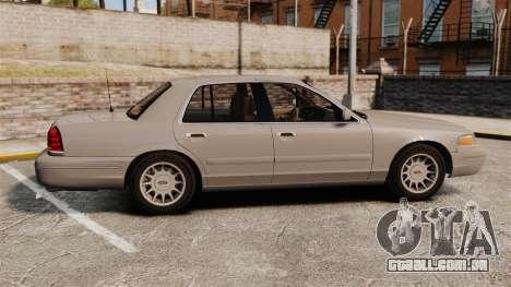 Ford Crown Victoria 1999 para GTA 4 esquerda vista