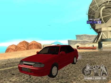 VAZ 2115 táxi para GTA San Andreas