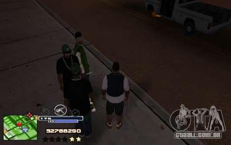 C-HUD Into para GTA San Andreas segunda tela