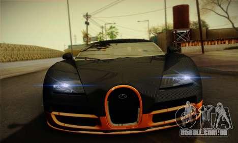Bugatti Veyron Super Sport World Record Edition para GTA San Andreas vista interior