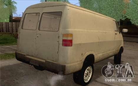 Dodge RAM Van 1500 para GTA San Andreas esquerda vista