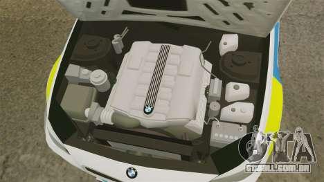 BMW M5 Marked Police [ELS] para GTA 4 vista interior