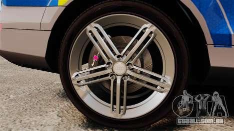Audi Q7 Metropolitan Police [ELS] para GTA 4 vista de volta
