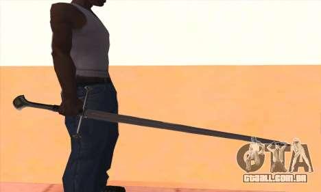 Sword Narsil para GTA San Andreas terceira tela