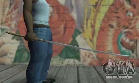 Akvirskaâ Katana de The Elder Scrolls IV: Oblivi para GTA San Andreas terceira tela