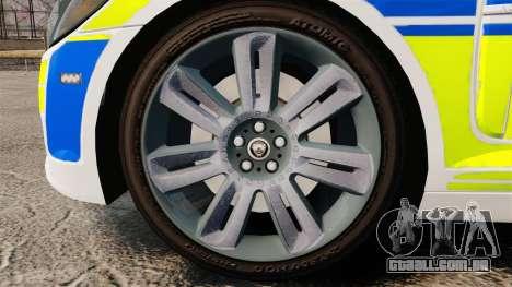 Jaguar XFR 2010 British Police [ELS] para GTA 4 vista de volta