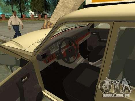 Táxi de 31105 Volga GAZ para GTA San Andreas vista traseira