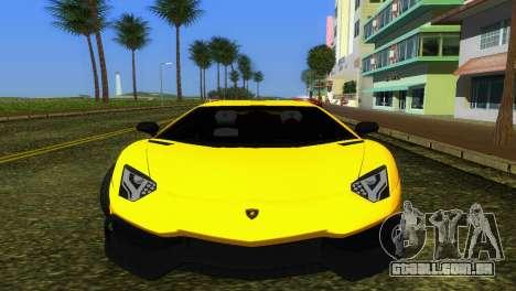Lamborghini Aventador LP720-4 50th Anniversario para GTA Vice City deixou vista