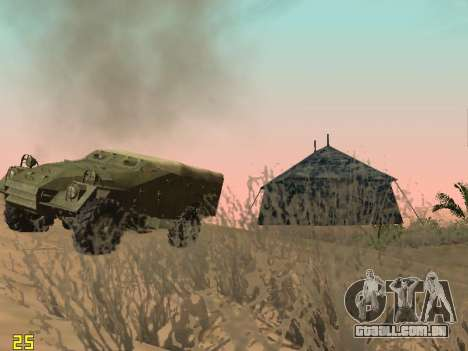 BTR-40 para GTA San Andreas vista inferior
