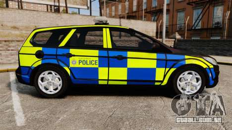 Ford Focus Estate 2009 Police England [ELS] para GTA 4 esquerda vista
