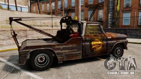 Chevrolet Tow truck rusty Stock para GTA 4 esquerda vista