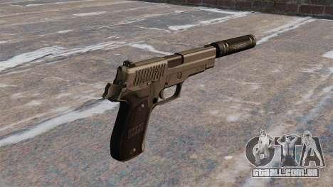 Pistola SIG Sauer P226 com silenciador para GTA 4 segundo screenshot