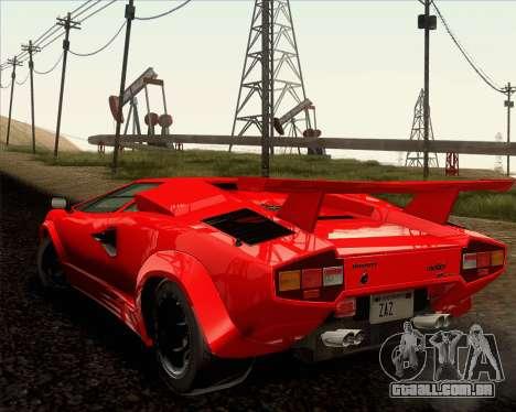 Lamborghini Countach LP500 Quattrovalvole 1988 para GTA San Andreas vista superior