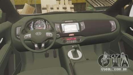 Kia Sportage Unmarked Police [ELS] para GTA 4 vista de volta