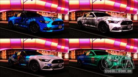 Ford Mustang GT 2015 v2 para GTA San Andreas vista direita