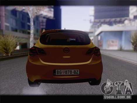 Opel Astra J 2011 para GTA San Andreas vista traseira