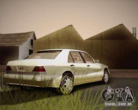 Mercedes-Benz S600 V12 Custom para GTA San Andreas vista interior
