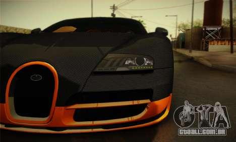 Bugatti Veyron Super Sport World Record Edition para GTA San Andreas vista direita