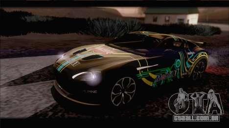 Aston Martin V12 Zagato 2012 [IVF] para GTA San Andreas vista superior