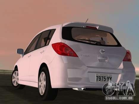 Nissan Tiida para GTA Vice City vista lateral
